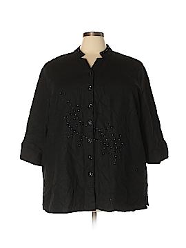 Bobbie Brooks Short Sleeve Button-Down Shirt Size 3X (Plus)