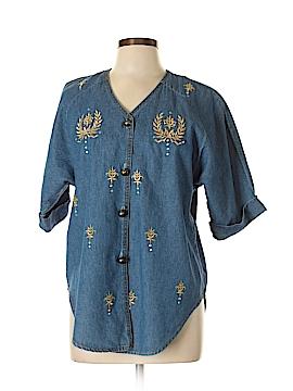 Bay Studio Short Sleeve Button-Down Shirt Size 12