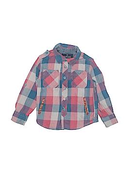 Buffalo by David Bitton Long Sleeve Button-Down Shirt Size 4