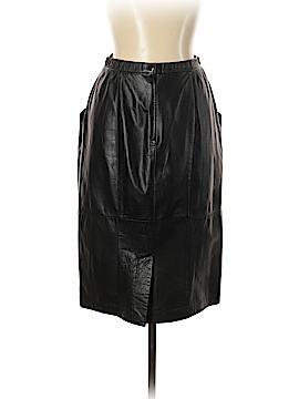 Jacqueline Ferrar Leather Skirt Size 12