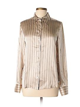 Ellen Tracy Long Sleeve Silk Top Size 8