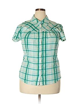 Croft & Barrow Short Sleeve Button-Down Shirt Size XL