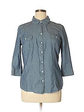 Croft & Barrow 3/4 Sleeve Button-Down Shirt Size L