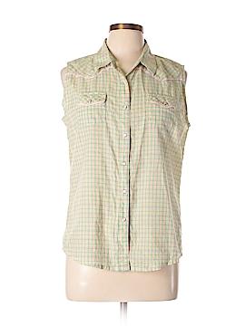 Wrangler Jeans Co Sleeveless Button-Down Shirt Size L