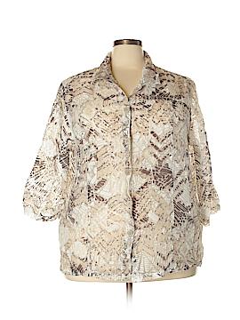 Westbound 3/4 Sleeve Button-Down Shirt Size 3X (Plus)