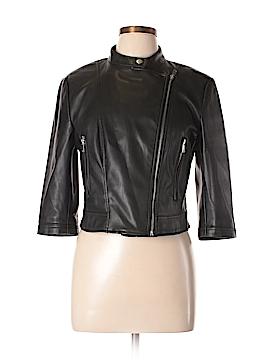 Zara Basic Faux Leather Jacket Size XL