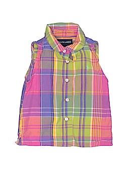 Ralph Lauren Sleeveless Button-Down Shirt Size 2T