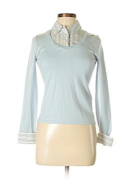 Petite Sophisticate Silk Pullover Sweater Size P