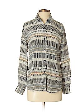 Patchington Long Sleeve Silk Top Size S
