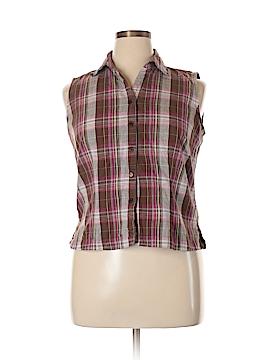 Lemon Grass Sleeveless Button-Down Shirt Size XL