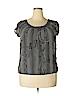 Studio M Women Short Sleeve Blouse Size L
