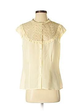 J. Peterman Short Sleeve Silk Top Size 10