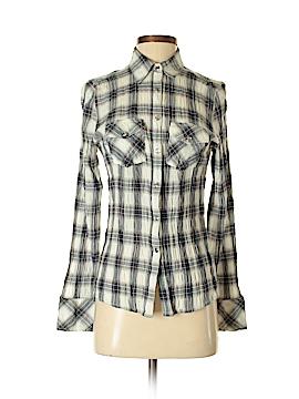 Delia Long Sleeve Button-Down Shirt Size L