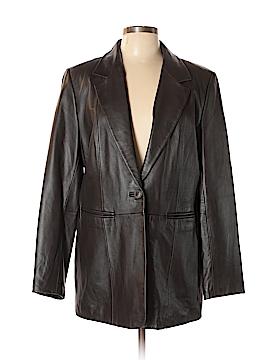 Denim & Co Leather Jacket Size L