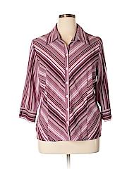 Apt. 9 Women 3/4 Sleeve Button-Down Shirt Size XL