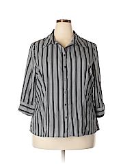 Apt. 9 Women 3/4 Sleeve Button-Down Shirt Size 1X (Plus)