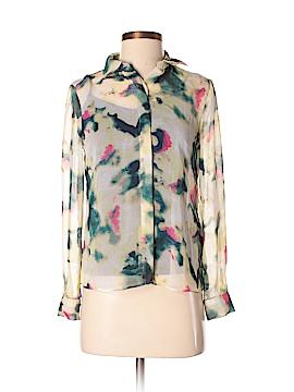 Simply Vera Vera Wang Long Sleeve Blouse Size XS (Petite)