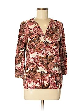 Lucky Brand 3/4 Sleeve Button-Down Shirt Size M