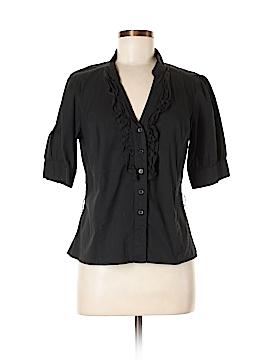 I.N. Studio Short Sleeve Button-Down Shirt Size L