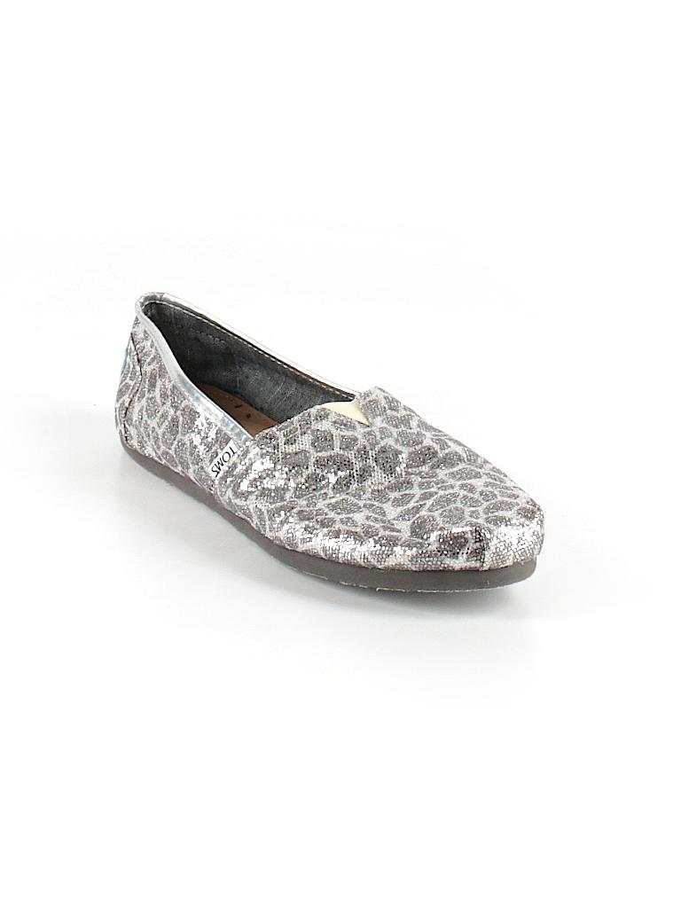f680dda5f1d TOMS Animal Print Silver Flats Size 10 - 58% off