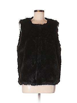 Topshop Faux Fur Vest Size 10