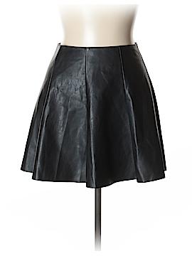 Aqua Faux Leather Skirt Size M