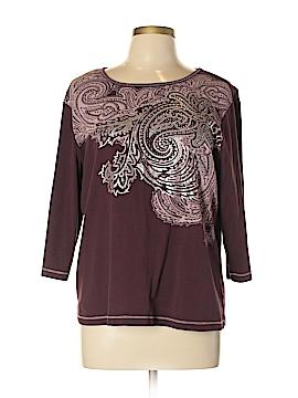 Cj Banks 3/4 Sleeve T-Shirt Size 0X (Plus)