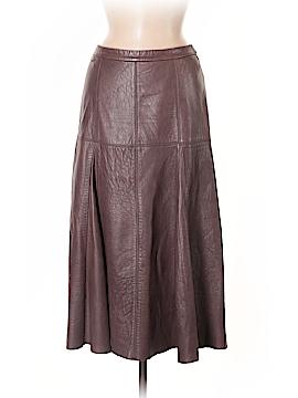 Halston Heritage Leather Skirt Size 4