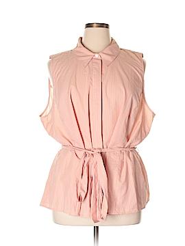 Lane Bryant Sleeveless Button-Down Shirt Size 28 (Plus)