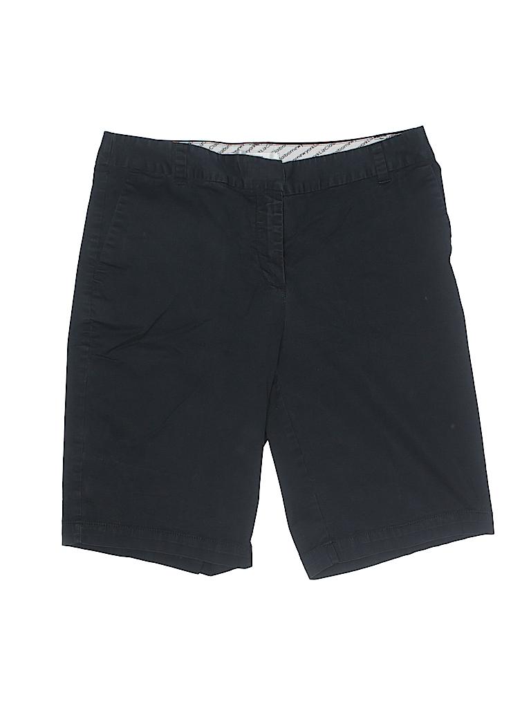 Liz Claiborne Women Khaki Shorts Size 12