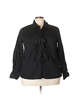 Liz Claiborne Long Sleeve Button-Down Shirt Size 20 (Plus)
