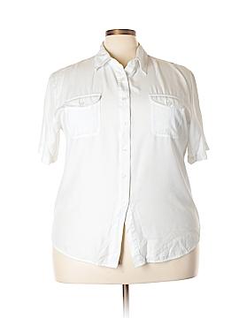 Joanna Short Sleeve Button-Down Shirt Size 24w (Plus)