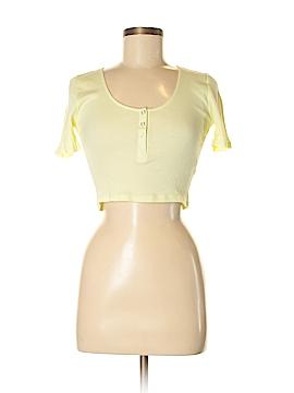 Topshop Short Sleeve Henley Size 6