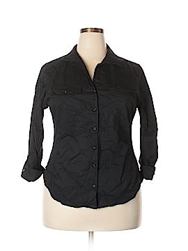 Signature Long Sleeve Button-Down Shirt Size XL