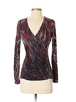 Nic + Zoe Long Sleeve Silk Top Size S