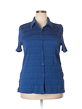 Koret Short Sleeve Button-Down Shirt Size 18 (Plus)