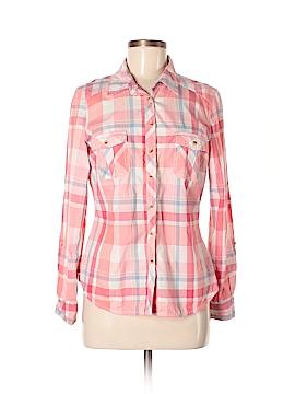 Indigo Collection Long Sleeve Button-Down Shirt Size 10 (UK)