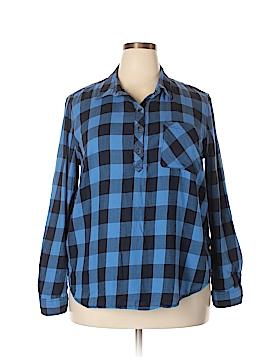 Faded Glory Long Sleeve Button-Down Shirt Size XXL