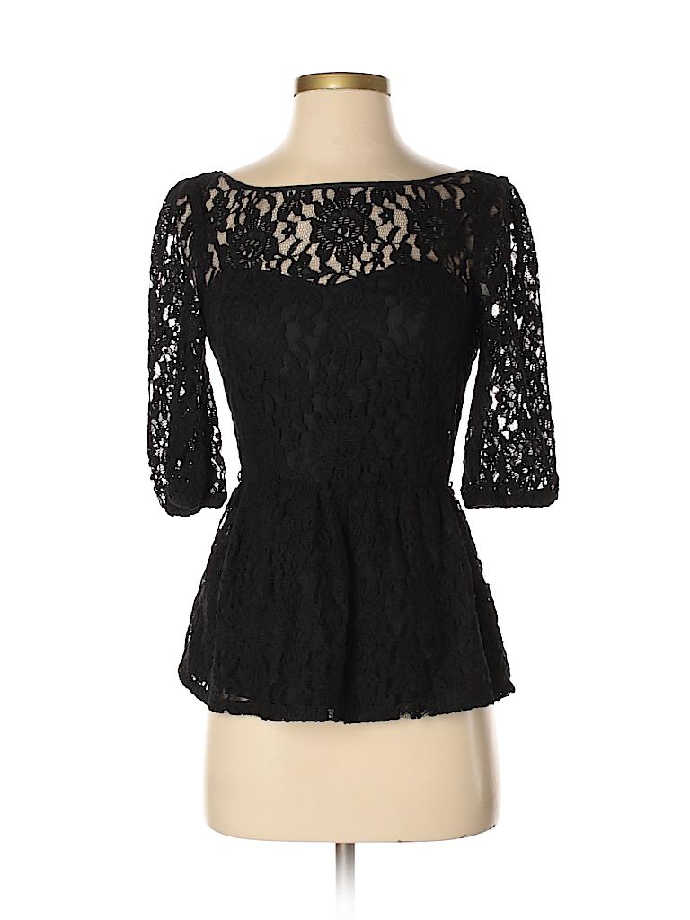 2c7d6dd6814 Juicy Couture Lace Black Short Sleeve Blouse Size 0 - 97% off | thredUP