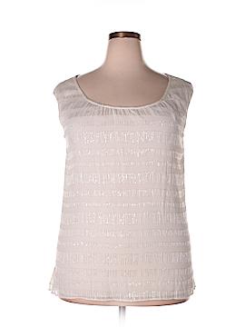 St. John Sleeveless Silk Top Size L