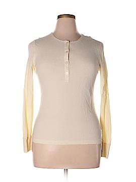 L-RL Lauren Active Ralph Lauren Long Sleeve Henley Size L