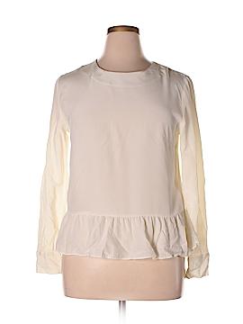 H&M Long Sleeve Silk Top Size 12