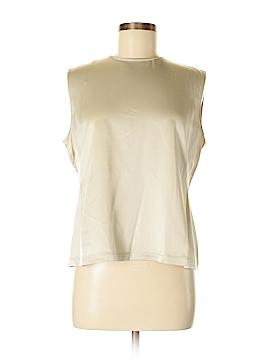Ellen Tracy Sleeveless Silk Top Size 8 (Petite)