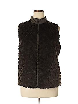 Chico's Faux Fur Vest Size XL (3)