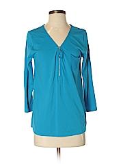 Joan Vass Women 3/4 Sleeve Top Size 4 (0)