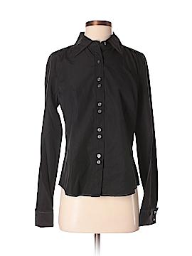 Calvin Klein Long Sleeve Silk Top Size M
