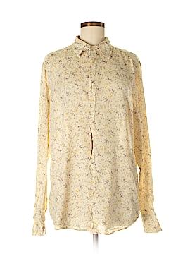 Earl Jean Long Sleeve Button-Down Shirt Size M