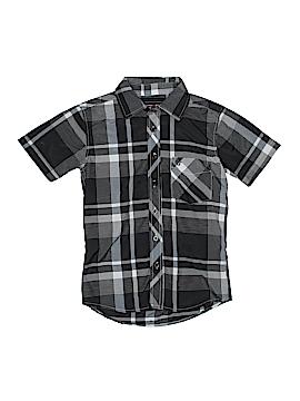 Swiss Cross Short Sleeve Button-Down Shirt Size S (Kids)