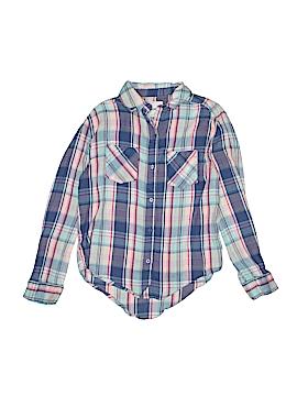 Mudd Girls Long Sleeve Button-Down Shirt Size 7 - 8