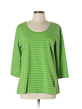 Susan Graver 3/4 Sleeve T-Shirt Size L